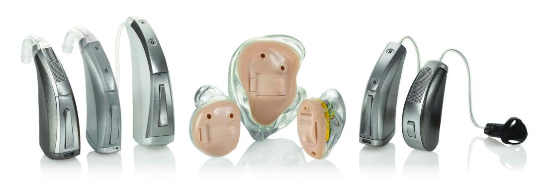 Photo - Different types of hearing aids